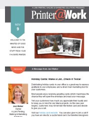 Printer@Work: Order holiday cards before the rush!