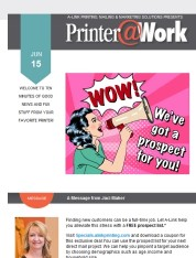 Printer@Work; Prospect List Deal; Add Landing Pages to Direct Mail